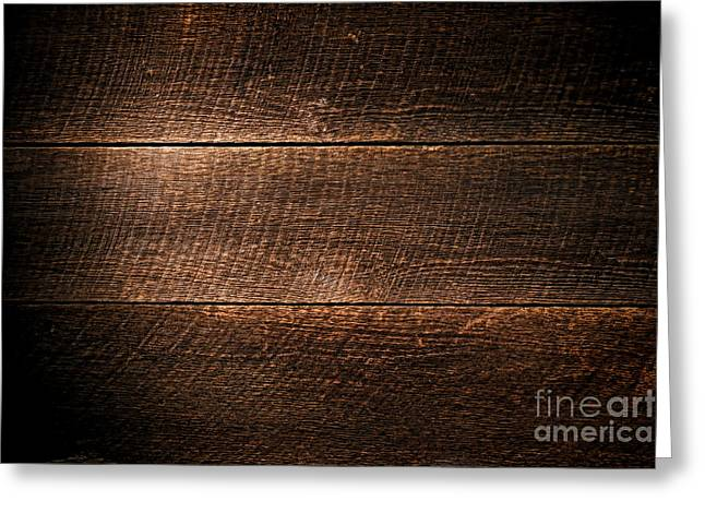 Floorboards Greeting Cards - Saw Marks on Wood Greeting Card by Olivier Le Queinec