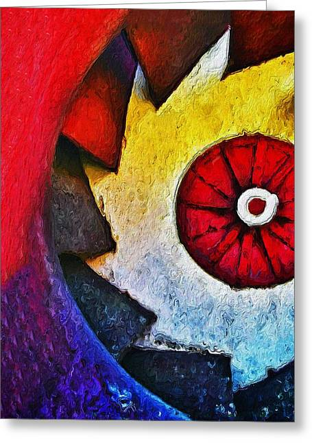 Saw Greeting Cards - Saw Greeting Card by Skip Hunt