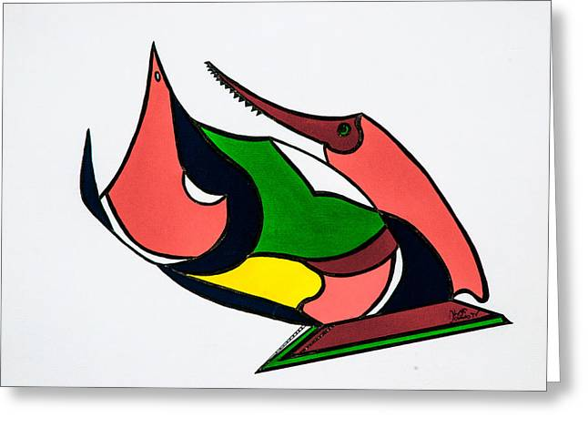 Geometric Artwork Greeting Cards - Saw You 1377 Greeting Card by James Nee
