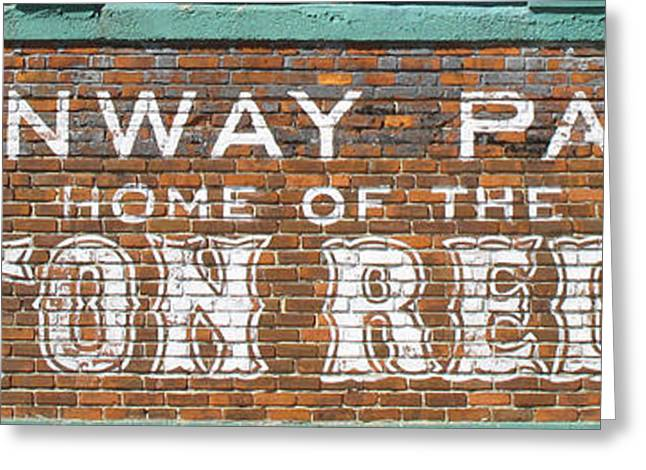 Fenway Park Greeting Cards - Sawks Home Greeting Card by Barbara McDevitt