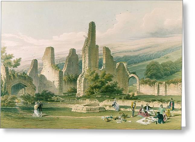 Ecclesiastical Architecture Greeting Cards - Sawley Abbey, From The Monastic Ruins Greeting Card by William Richardson