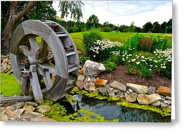 Terrific Greeting Cards - Sawmill Creek Greeting Card by Frozen in Time Fine Art Photography