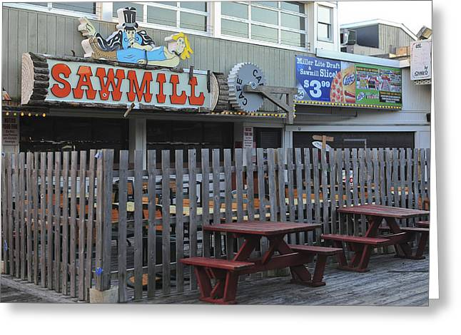 Seaside Heights Greeting Cards - Sawmill Cafe Seaside Park New Jersey Greeting Card by Terry DeLuco