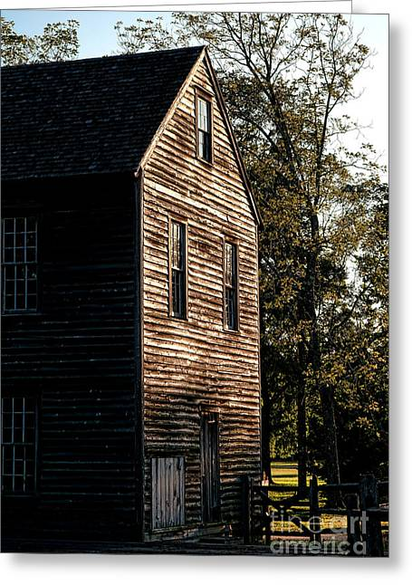 Mills Greeting Cards - Sawmill Sunlight  Greeting Card by Olivier Le Queinec