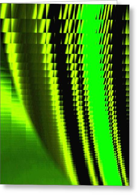 Intrigue Greeting Cards - Sawtooth Abstract 1 Greeting Card by Will Borden