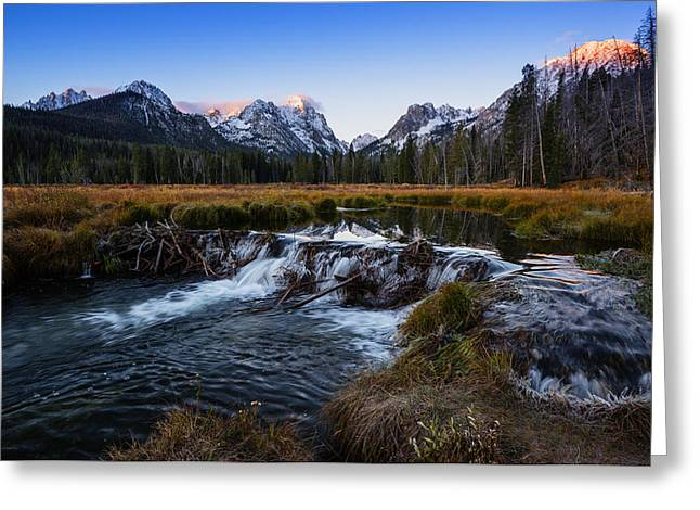 Snow-covered Landscape Greeting Cards - Sawtooth cold morning in Stanley Idaho Greeting Card by Vishwanath Bhat