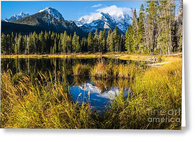 Sawtooth Mountain Art Greeting Cards - Sawtooth morning in Stanley Idaho Greeting Card by Vishwanath Bhat
