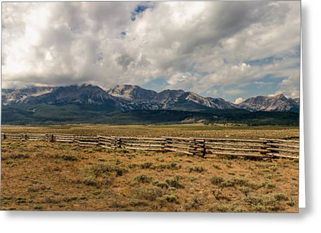 Haybales Greeting Cards - Sawtooth Range Greeting Card by Robert Bales