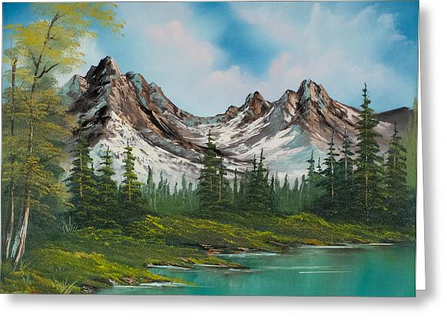 Bob Ross Paintings Greeting Cards - Sawtooth Saddle Greeting Card by C Steele