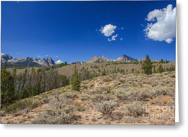 Haybale Greeting Cards - Sawtooth View Greeting Card by Robert Bales