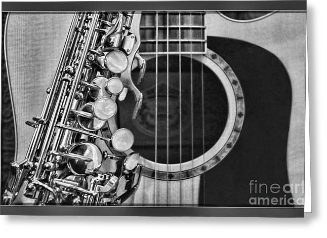 Rolling Stones Photographs Greeting Cards - Sax and G-tar by Diana Sainz Greeting Card by Diana Sainz
