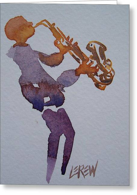 Marching Band Drawings Greeting Cards - Sax Me Baby Greeting Card by Larry Lerew