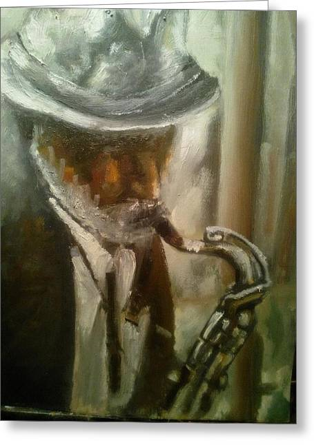 Sax Greeting Card by Razvan Juretcu