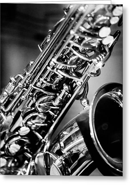 Saxophone Photographs Greeting Cards - Saxophone Greeting Card by Hakon Soreide