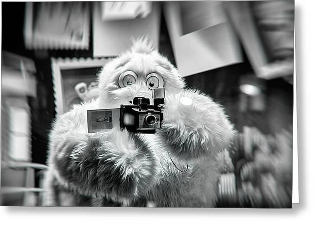Yeti Greeting Cards - Say Abominable Greeting Card by Scott  Wyatt