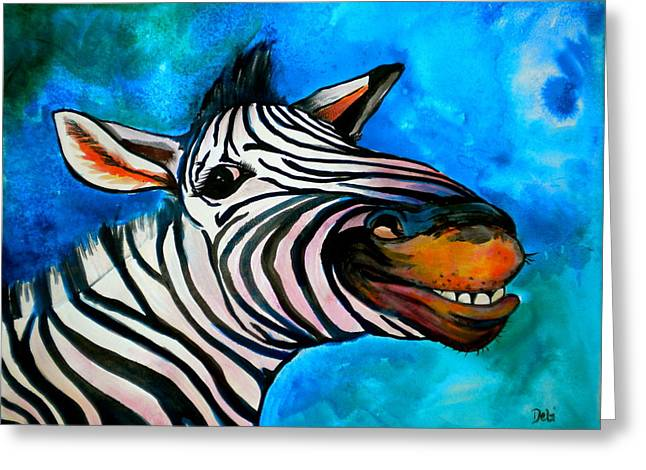 Precious Paintings Greeting Cards - Say Cheese Greeting Card by Debi Starr