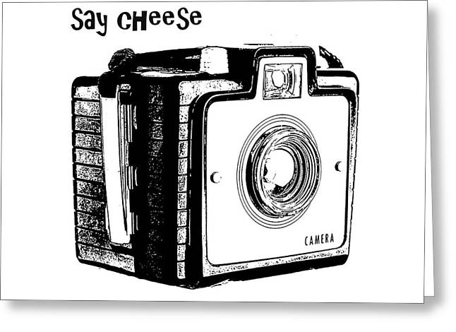 Brownie Greeting Cards - Say Cheese Greeting Card by Edward Fielding
