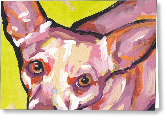 Chihuahua Portraits Greeting Cards - Say Chiiis Greeting Card by Lea