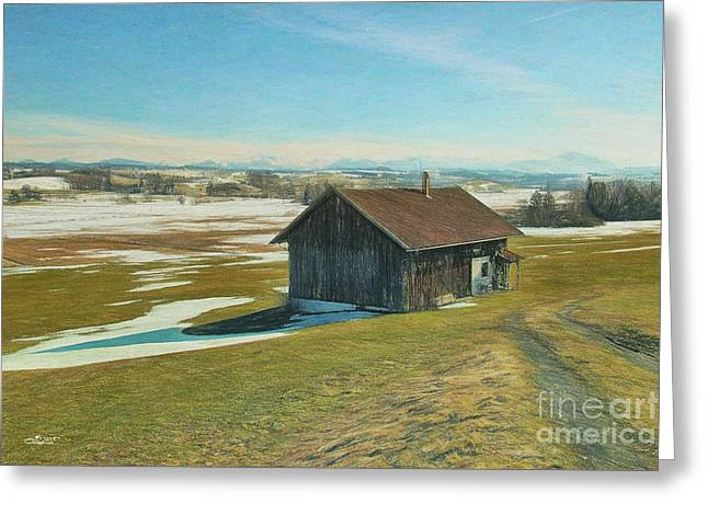 Winter Photos Greeting Cards - Say Goodbye to the Winter Greeting Card by Jutta Maria Pusl