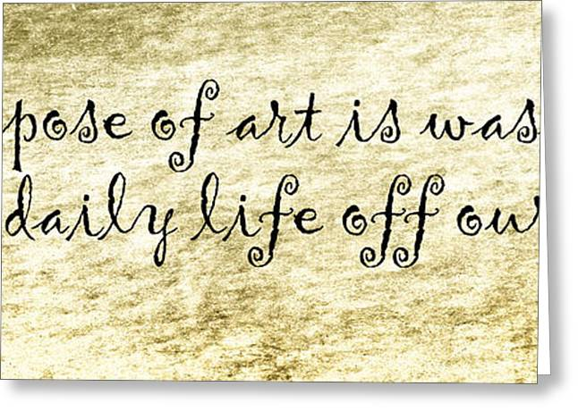 Pablo Picasso Quote Greeting Cards - Say It Again Greeting Card by Joan Carroll