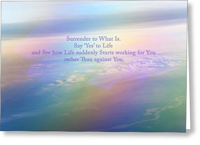 Violet Blue Greeting Cards - Say Yes to Life Greeting Card by Jenny Rainbow