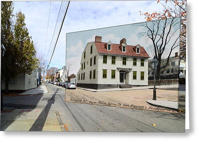 Sayers Greeting Cards - Sayer House on Spring Street in Newport Rhode Island Greeting Card by Jeff Hayden