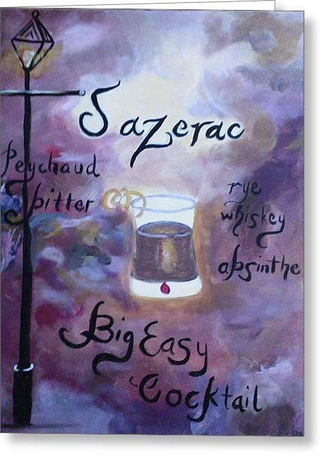 Sazerac Big Easy Cocktail Greeting Card by Marian Hebert