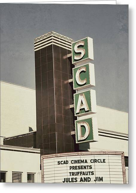 Georgia Fan Greeting Cards - SCAD Theater Greeting Card by Brandon Addis