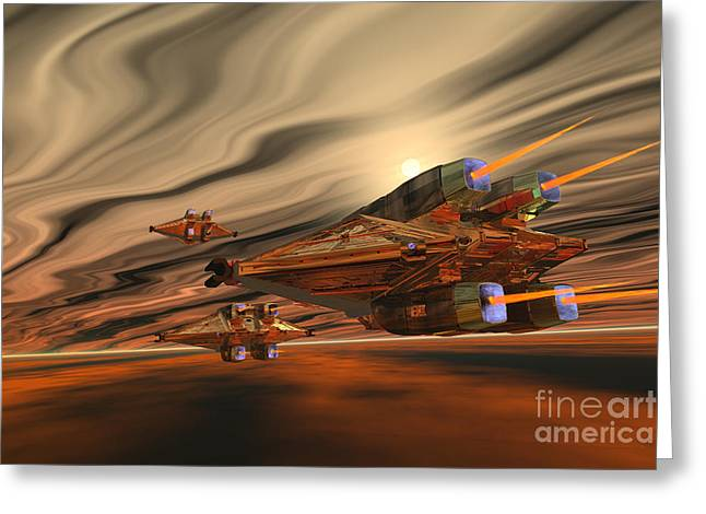 Jet Star Digital Art Greeting Cards - Scadlands Greeting Card by Corey Ford