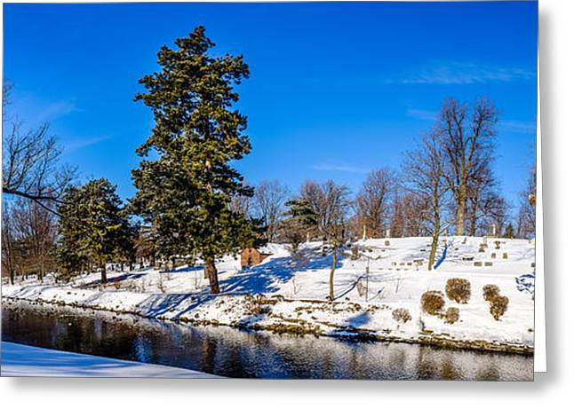 Beautiful Creek Greeting Cards - Scajaquada creek through Forest Lawn Greeting Card by Chris Bordeleau