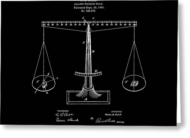 Scale Scales Greeting Cards - Scale Patent Greeting Card by Dan Sproul