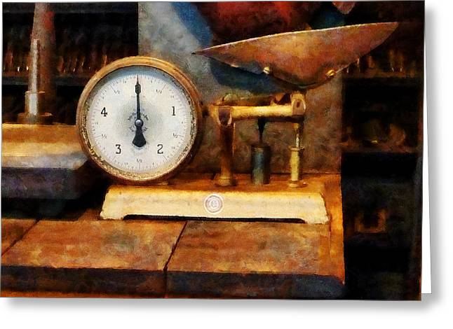 Steam Punk Greeting Cards - Scale Greeting Card by Susan Savad