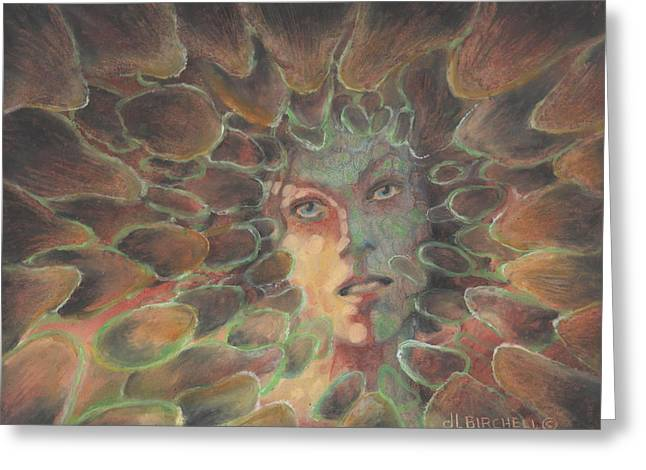 Transformations Pastels Greeting Cards - Scales Off Greeting Card by Debra Lynn Birchell