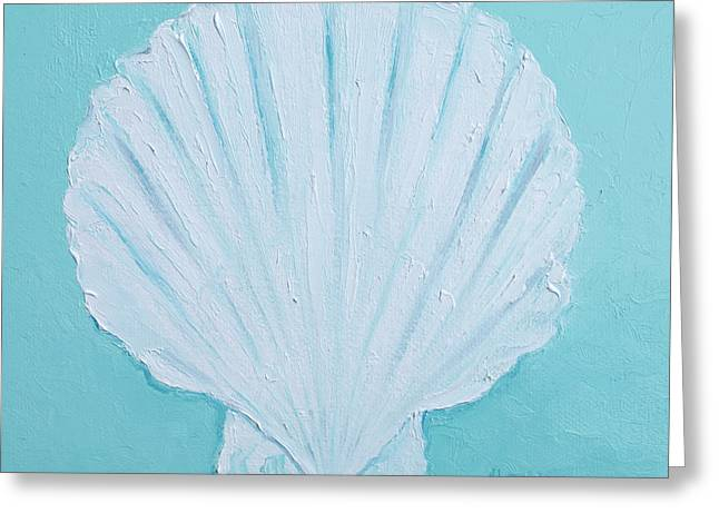 Bathroom Prints Paintings Greeting Cards - Scallop Shell Greeting Card by Jan Matson