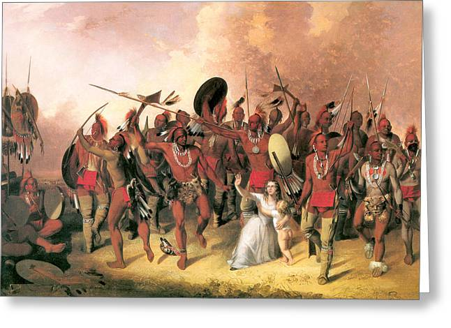 Indian Warrior Art Photographs Greeting Cards - Scalp Dance Greeting Card by John Mix Stanley