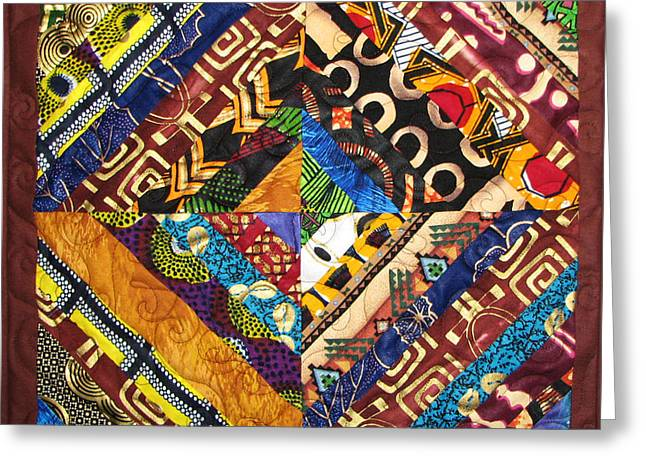 Aisha Lumumba Tapestries - Textiles Greeting Cards - Scandalous Greeting Card by Aisha Lumumba
