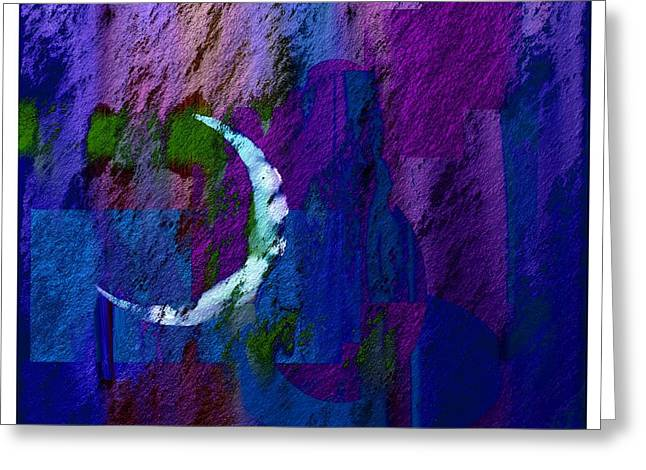 Contemporary Night Scape Greeting Cards - Scape 1a Greeting Card by Lawrence Nusbaum