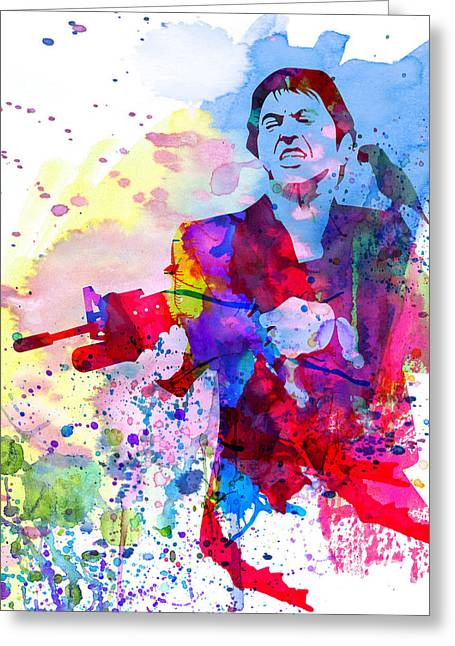 Famous Actor Paintings Greeting Cards - Scar Watercolor Greeting Card by Naxart Studio
