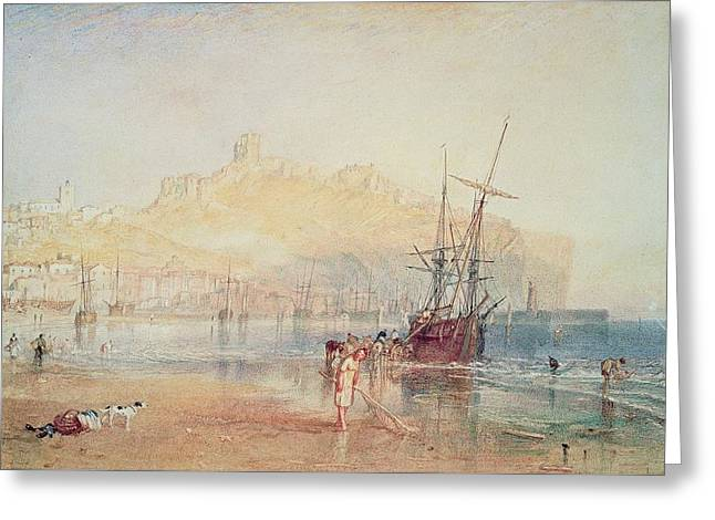 Scarborough, 1825 Greeting Card by Joseph Mallord William Turner