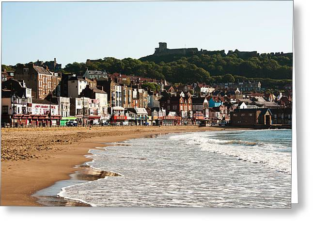 Scarborough Wave Greeting Card by Svetlana Sewell
