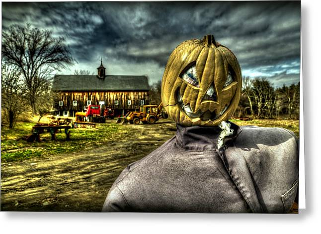 Hdr Landscape Greeting Cards - Scarecrow Greeting Card by Craig Incardone