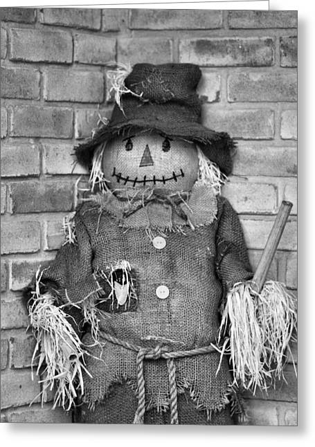 Hallows Eve Greeting Cards - Scarecrow Greeting Card by Dan Sproul
