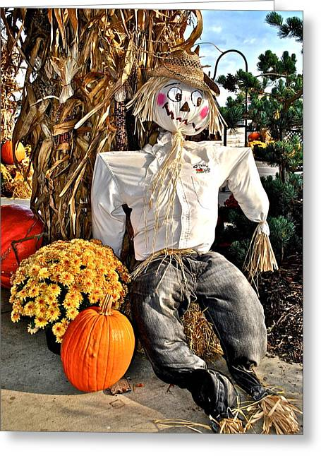 Informal Portraits Greeting Cards - Scarecrow Greeting Card by Frozen in Time Fine Art Photography
