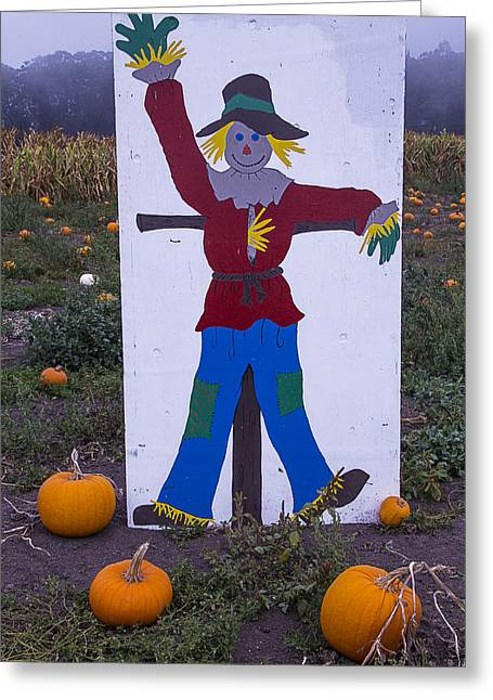 Scarecrow Greeting Cards - Scarecrow  Sign Greeting Card by Garry Gay