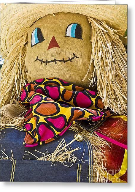 Hightower Greeting Cards - Scarecrow Greeting Card by Tim Hightower