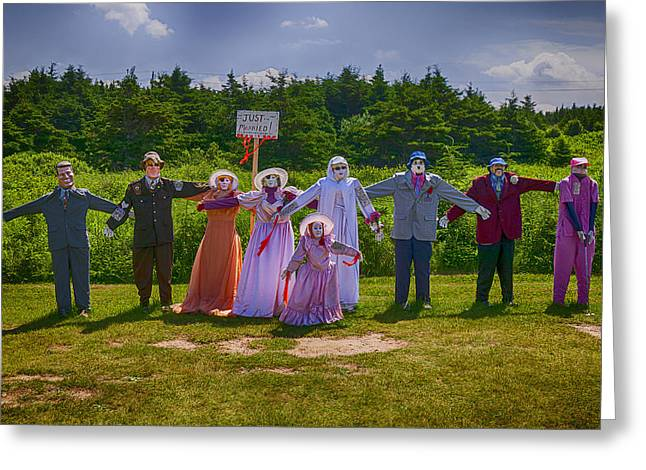 Just Greeting Cards - Scarecrow Wedding Greeting Card by Garry Gay