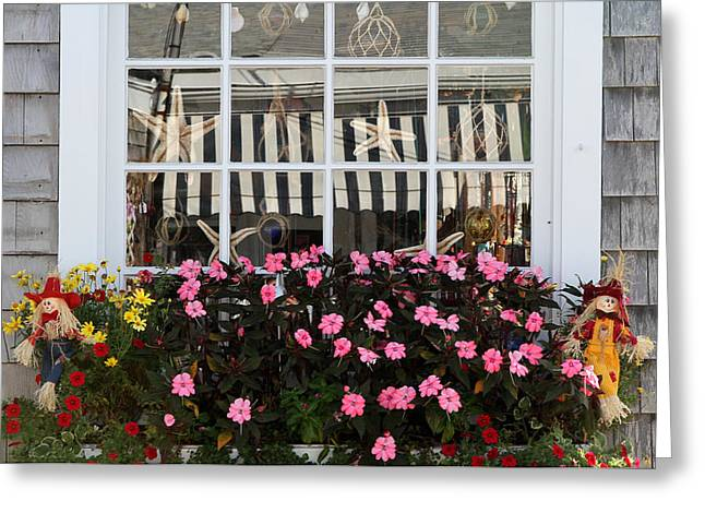 Glass Bowls Greeting Cards - Scarecrows on Marthas Vineyard  Greeting Card by Juergen Roth