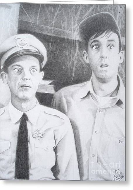 Andy Griffith Show Greeting Cards - Scared Silly Greeting Card by Kendra Tharaldsen-Franklin