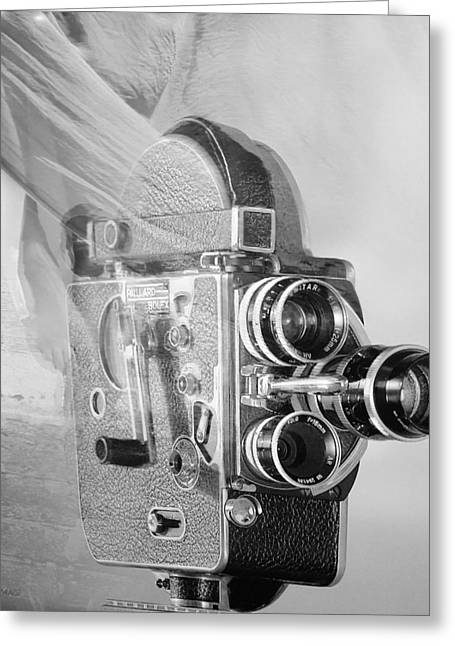 Over-exposed Greeting Cards - SCARF CAMERA in BLACK AND WHITE Greeting Card by Rob Hans