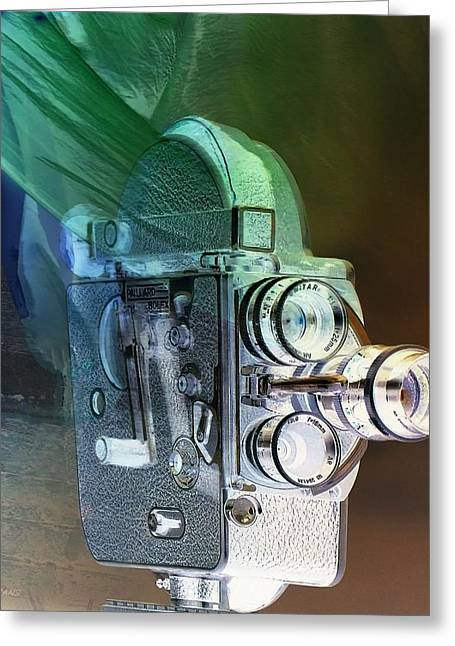 Over-exposed Greeting Cards - SCARF CAMERA in NEGATIVE Greeting Card by Rob Hans